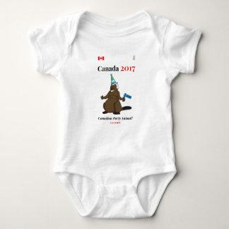 Canada 150 in 2017 Beaver Party Animal Baby Bodysuit