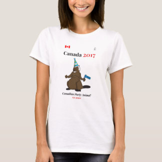 Canada 150 in 2017 Beaver Party Animal T-Shirt