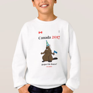 Canada 150 in 2017 Beaver Party Respect Sweatshirt
