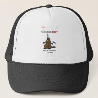 Canada 150 in 2017 Beaver Party Rock On Trucker Hat