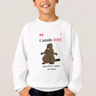 Canada 150 in 2017 Beaver Rock On Sweatshirt