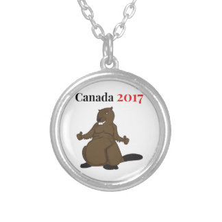 Canada 150 in 2017 Beaver Silver Plated Necklace