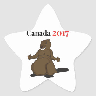 Canada 150 in 2017 Beaver Star Sticker