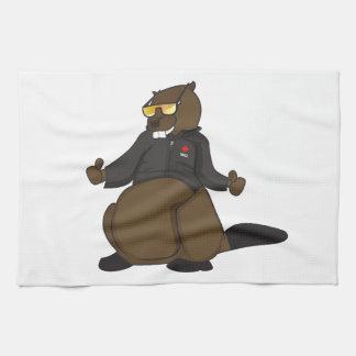 Canada 150 in 2017 Cool Beaver Merchandise Kitchen Towel