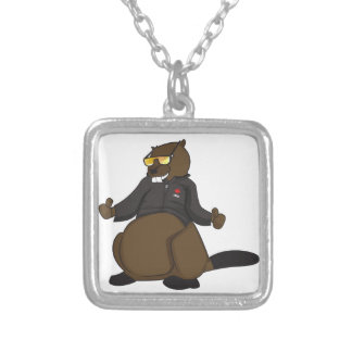 Canada 150 in 2017 Cool Beaver Merchandise Silver Plated Necklace