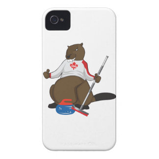 Canada 150 in 2017 Curling Beaver Merchandise iPhone 4 Case