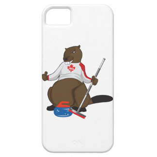 Canada 150 in 2017 Curling Beaver Merchandise iPhone 5 Cover