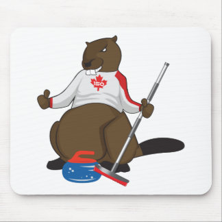 Canada 150 in 2017 Curling Beaver Merchandise Mouse Pad
