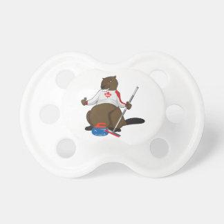 Canada 150 in 2017 Curling Beaver Merchandise Pacifier