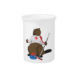 Canada 150 in 2017 Curling Beaver Merchandise Pitcher