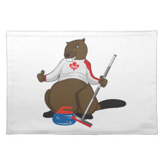 Canada 150 in 2017 Curling Beaver Merchandise Placemat