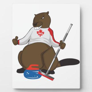 Canada 150 in 2017 Curling Beaver Merchandise Plaque