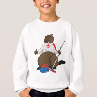 Canada 150 in 2017 Curling Beaver Merchandise Sweatshirt