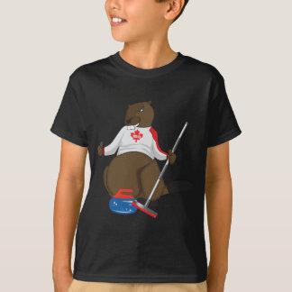 Canada 150 in 2017 Curling Beaver Merchandise T-Shirt