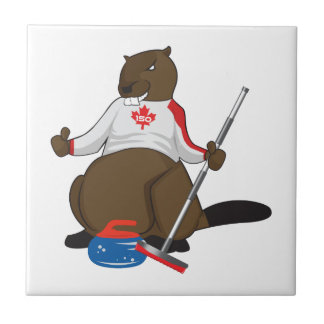 Canada 150 in 2017 Curling Beaver Merchandise Tile
