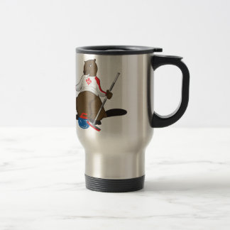 Canada 150 in 2017 Curling Beaver Merchandise Travel Mug