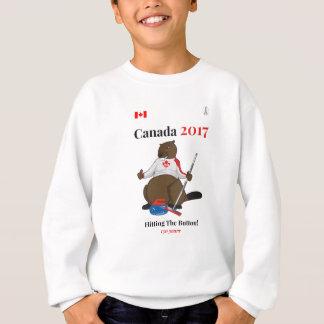 Canada 150 in 2017 Curling Button Sweatshirt