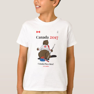Canada 150 in 2017 Curling Canada Plays T-Shirt