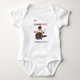 Canada 150 in 2017 Curling Celebrate Baby Bodysuit