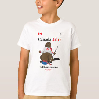 Canada 150 in 2017 Curling Hammer T-Shirt