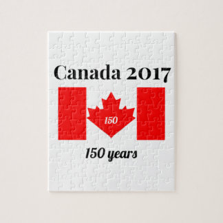 Canada 150 in 2017 Heart Flag Jigsaw Puzzle