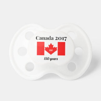 Canada 150 in 2017 Heart Flag Pacifiers