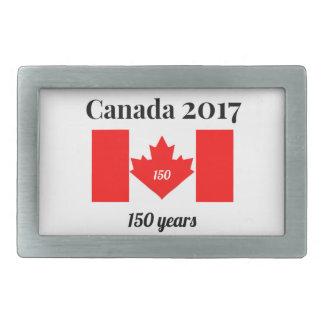 Canada 150 in 2017 Heart Flag Rectangular Belt Buckles