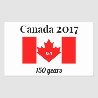 Canada 150 in 2017 Heart Flag Sticker