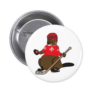 Canada 150 in 2017 Hockey Beaver 2 Inch Round Button