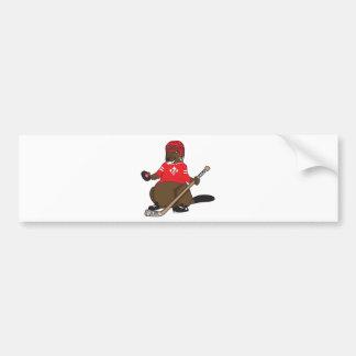 Canada 150 in 2017 Hockey Beaver Bumper Sticker