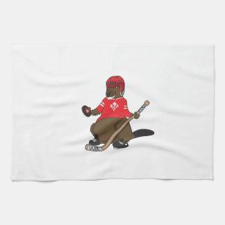 Canada 150 in 2017 Hockey Beaver Hand Towel