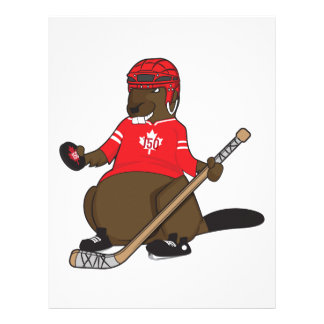Canada 150 in 2017 Hockey Beaver Letterhead