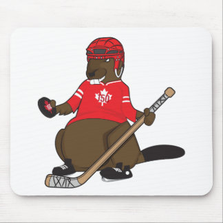 Canada 150 in 2017 Hockey Beaver Mouse Pad