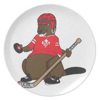 Canada 150 in 2017 Hockey Beaver Party Plates