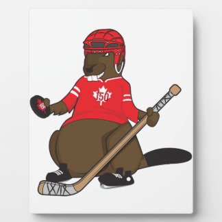 Canada 150 in 2017 Hockey Beaver Plaque