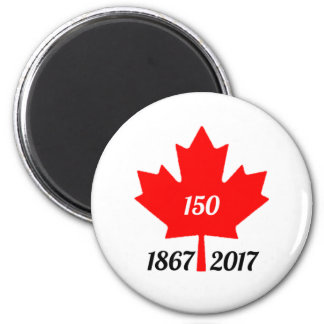 Canada 150 in 2017 maple leaf 2 inch round magnet