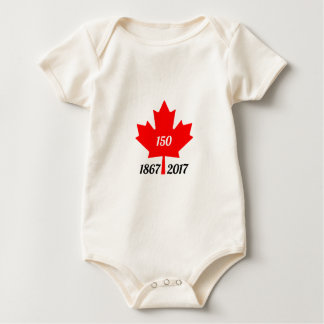 Canada 150 in 2017 maple leaf baby bodysuit