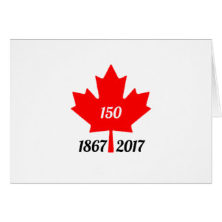 Canada 150 in 2017 maple leaf card