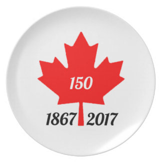 Canada 150 in 2017 maple leaf dinner plate