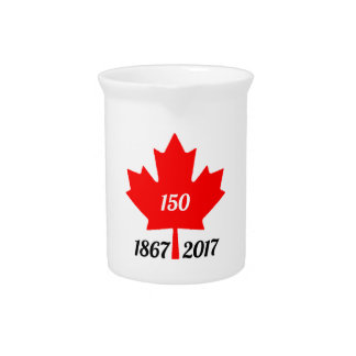 Canada 150 in 2017 maple leaf drink pitchers