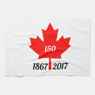 Canada 150 in 2017 maple leaf hand towel