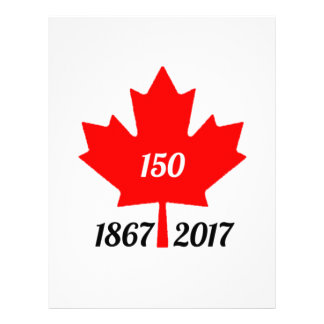 Canada 150 in 2017 maple leaf letterhead