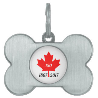 Canada 150 in 2017 maple leaf pet name tag