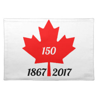 Canada 150 in 2017 maple leaf placemat