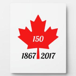 Canada 150 in 2017 maple leaf plaque