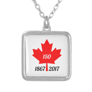Canada 150 in 2017 maple leaf silver plated necklace