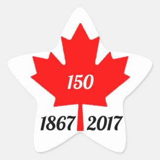 Canada 150 in 2017 maple leaf star sticker