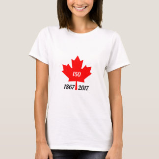 Canada 150 in 2017 maple leaf T-Shirt