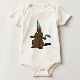 Canada 150 in 2017 Party Beaver Merchandise Baby Bodysuit