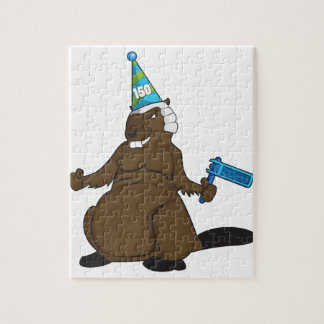 Canada 150 in 2017 Party Beaver Merchandise Jigsaw Puzzle
